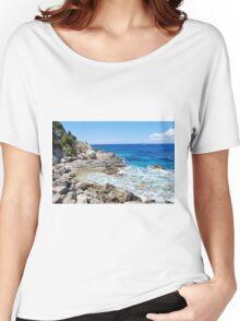 Lakka coastline, Paxos Women's Relaxed Fit T-Shirt
