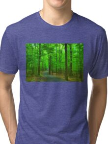 Green Trees - Impressions of Summer Forests Tri-blend T-Shirt