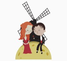 Satine and Christian - Moulin Rouge movie Kids Tee