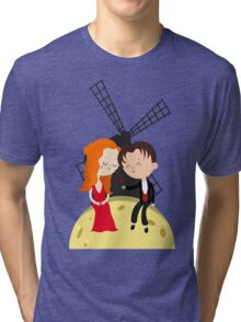 Satine and Christian - Moulin Rouge movie Tri-blend T-Shirt