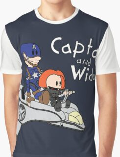 Captain and Widow Graphic T-Shirt