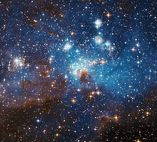 Star Forming Region LH 95 in the Large Magellanic Cloud by allhistory