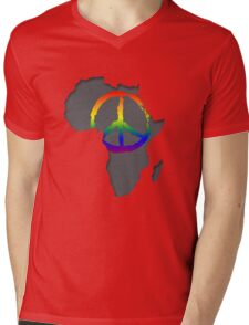 Peace in Africa T-Shirt Mens V-Neck T-Shirt