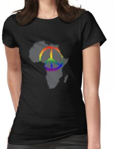 Peace in Africa T-Shirt Womens Fitted T-Shirt