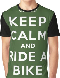 Keep Calm and Ride a Bike Graphic T-Shirt
