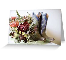 Cowgirl boots and native flowers 1 Greeting Card