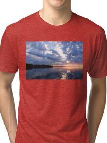 Blue Morning Zen - Toronto Skyline Impressions Tri-blend T-Shirt