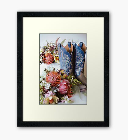 Cowgirl Boots and Native Flowers 2 Framed Print