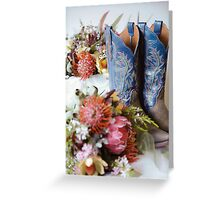 Cowgirl Boots and Native Flowers 2 Greeting Card