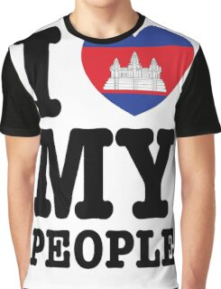 I Love My Khmer People  Graphic T-Shirt