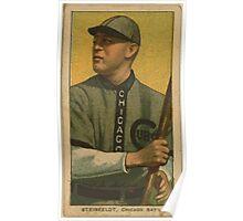Benjamin K Edwards Collection Harry Steinfeldt Chicago Cubs baseball card portrait Poster
