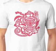 Chinese Paper Cut Year Of The Monkey Unisex T-Shirt