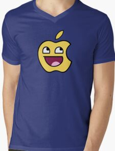 Happy apple Mens V-Neck T-Shirt