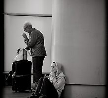 Waiting for the train by Andrew Wilson