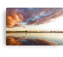 Reflecting on Yachts and Clouds - Lake Ontario Impressions Metal Print
