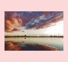 Reflecting on Yachts and Clouds - Lake Ontario Impressions One Piece - Short Sleeve