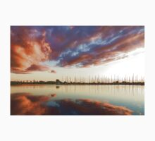 Reflecting on Yachts and Clouds - Lake Ontario Impressions Kids Tee