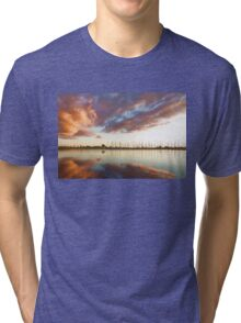 Reflecting on Yachts and Clouds - Lake Ontario Impressions Tri-blend T-Shirt