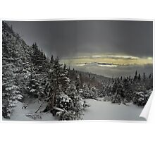 View from summit of Bretton woods ski area 4 Poster