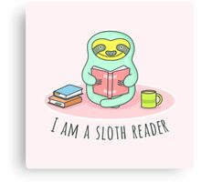 Reading Sloth Canvas Print