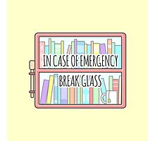 Emergency Bookshelf Photographic Print