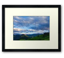 Impressions of Mountains and Magical Clouds Framed Print