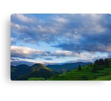 Impressions of Mountains and Magical Clouds Canvas Print