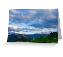 Impressions of Mountains and Magical Clouds Greeting Card