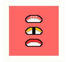 Pixel Nigiri Sushi Art Print
