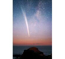 Morning Comet meets the Cape Photographic Print
