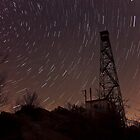 Falling Stars Over Firetower by Greg Booher