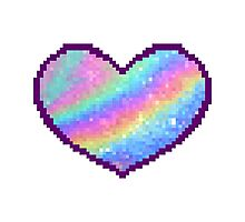Holographic Heart Photographic Print