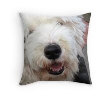 english sheepdog in Berkeley,ca Throw Pillow
