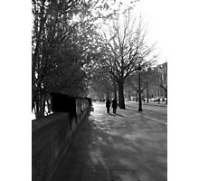 morning walk on the left bank Photographic Print