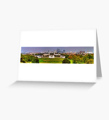 Greenwich View Pano Greeting Card