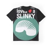 Slinky! [WHITE TEXT] Graphic T-Shirt
