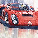 Alfa Romeo Tipo 33 2 # 186 Targa Florio 1968 by Yuriy Shevchuk