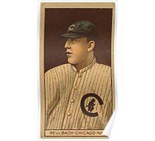 Benjamin K Edwards Collection Edward Reulbach Chicago Cubs baseball card portrait Poster