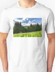 Impressions of Mountains and Meadows and Trees Unisex T-Shirt