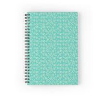 50s Teal and light yellow pattern Spiral Notebook