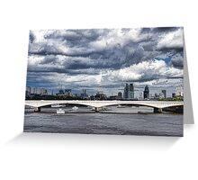 Impressions of London - Stormy Skies Skyline Greeting Card