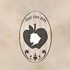 "Snow White Apple Silhouette ""Just One Bite"" by joshda88"