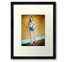 Tina-Overalls-7 Framed Print