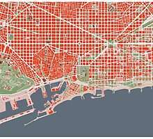 Barcelona city map classic by PlanosUrbanos