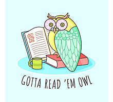 Reading Owl Photographic Print