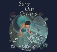 Keepsakes of the Ocean - Save Our Oceans - Bubble cut out Kids Clothes
