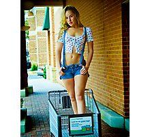 Tina-Overalls-4 Photographic Print