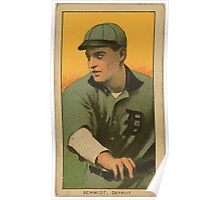 Benjamin K Edwards Collection Boss Schmidt Detroit Tigers baseball card portrait 002 Poster