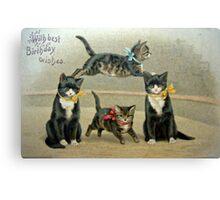 Birthday Kittens Canvas Print