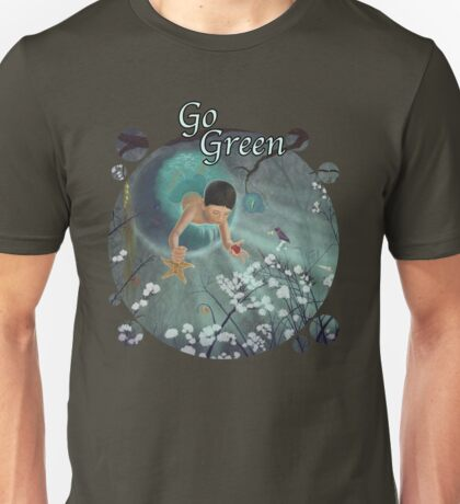 Keepsakes of the Ocean - Go Green - Bubble cut out T-Shirt